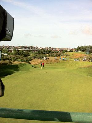 """""""The Open"""" ninth hole, par 3, 2012"""
