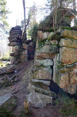 erstaunliche Felsformationen - Breitesteinklippen