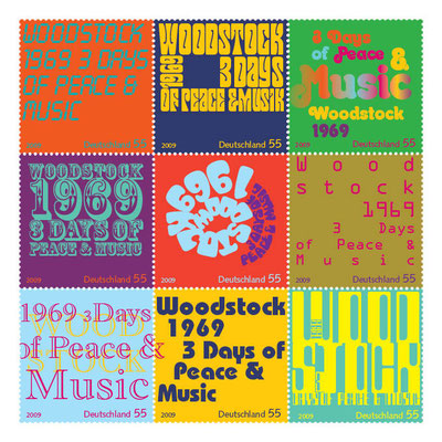 "Briefmarkenbogen ""Woodstock"""