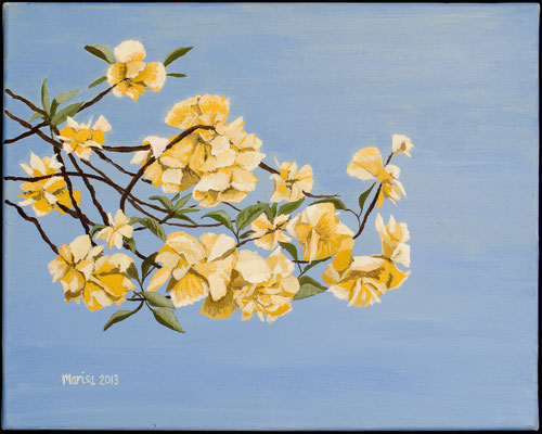 FLOWERS - JAPAN - Acryl auf Leinwand - 30 cm x 40 cm