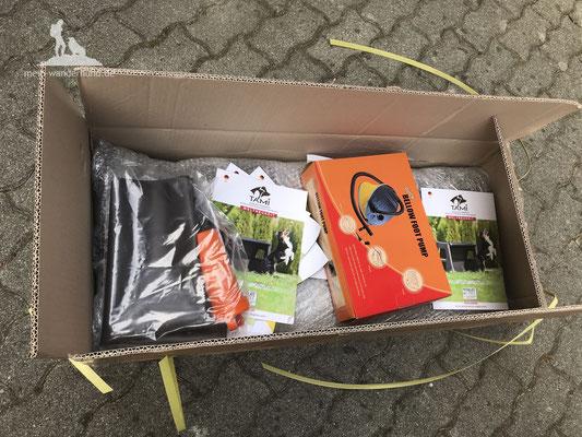 Test Tami Hundebox: Auspacken