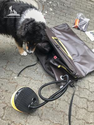 Test Tami Hundebox: Aufpumpen