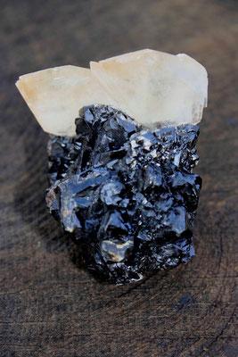 Calcit auf Sphalerit