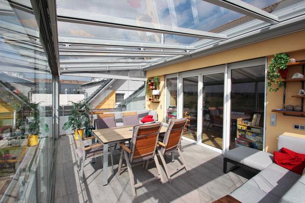 Terrassendach Aluminium Hardt