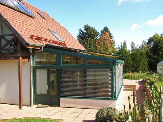 Wintergarten Holz Alu bei Hindlingen (Frankreich)
