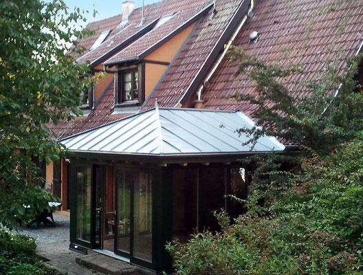 Wintergarten Holz Aluminium Frankreich