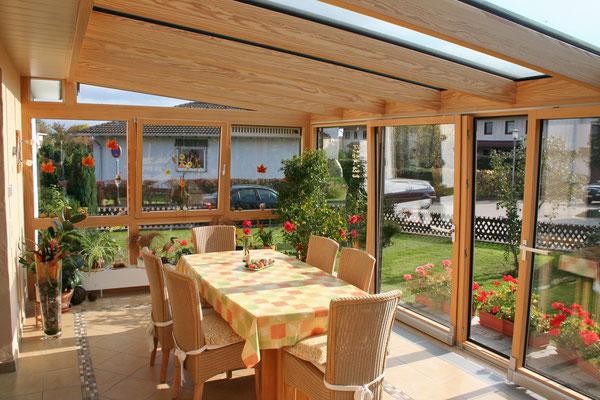 Wintergarten Holz Aluminium Freistett