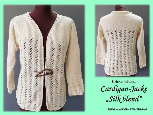 Strickjacke Silk Blend