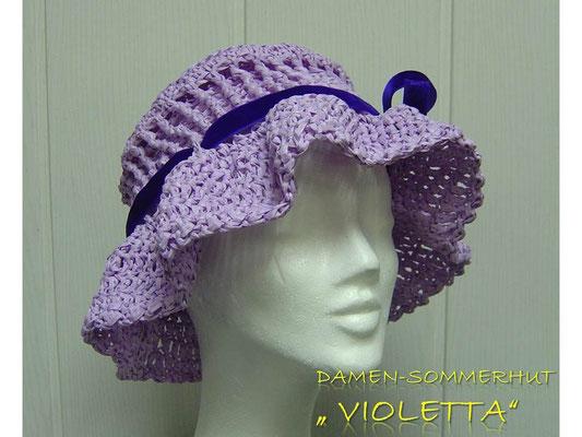 "Damen-Hut ""Violetta"" aus Rafia (= Bast,  100 % Zellulose)"