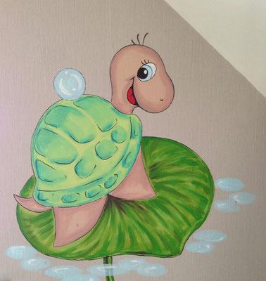 Wasserschildkröte/ Entwurf und Foto: Anke Pietrowski