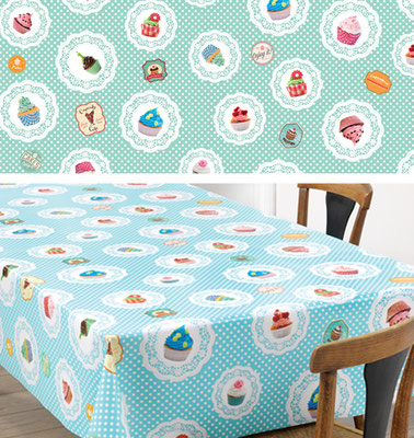 Cupcakes pattern for tablecloth