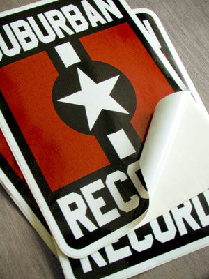 Suburban Records stickers for promo