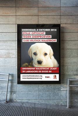 Anti-Dierproeven Coalitie campaign poster