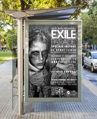 Exile Parade Velvet Music Instore - poster