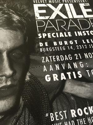 Exile Parade Velvet Music Instore - poster detail