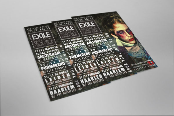 Exile Parade Dutch mini tour - flyer