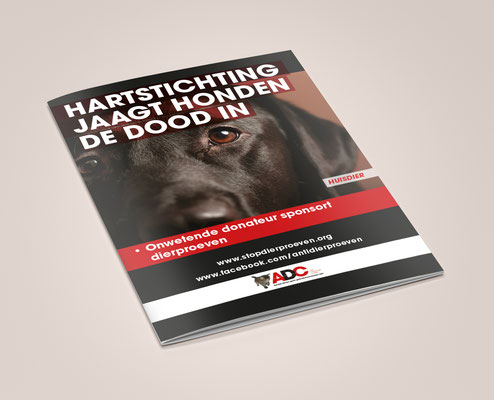 Anti-Dierproeven Coalitie - campaign brochure - front cover