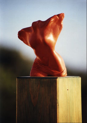 female bust - wood sculpture by Nasel