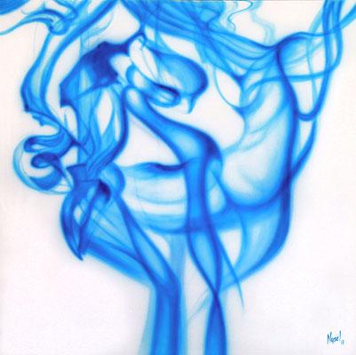 BLUE FELLING by Nasel - acrylic on canvas  100x100cm