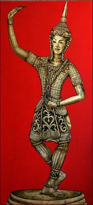 """Tailand  """" The Golden Orient"""" by NASEL. Lacado  Y Pan de Oro. Medidas: 65,5 X 141 cm"""