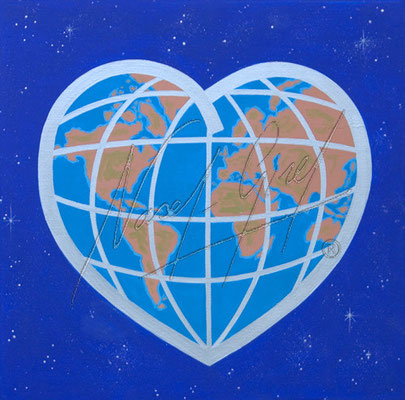 LOVELY WORLD by Nasel. Acrylic on canvas