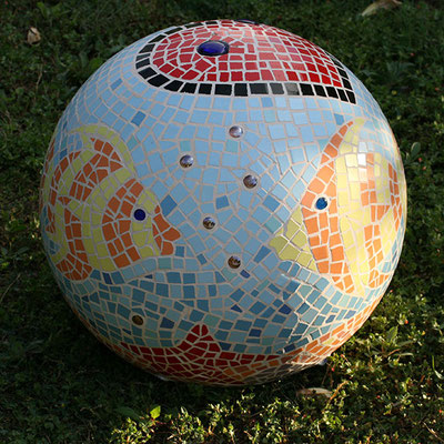 LOVE AQUARIUM Mosaic Sculpture by Nasel & Bhavani