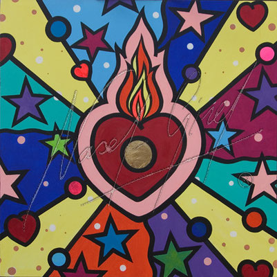 PURE LOVE by Nasel. Acrylic on canvas