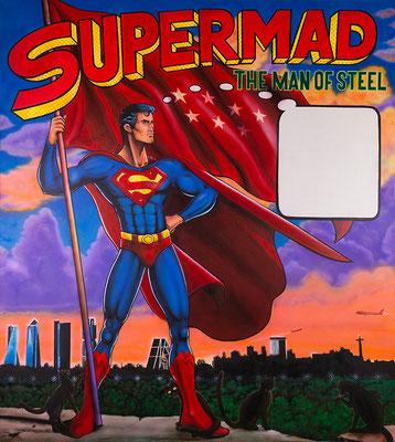 SUPERMAN SKYLINE MADRID - acrilyc on canvas 146 X 162 cm