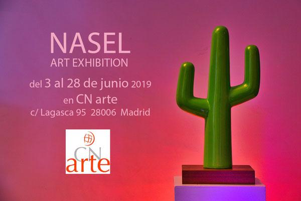 Cartel exposición CN Arte Madrid junio 2019