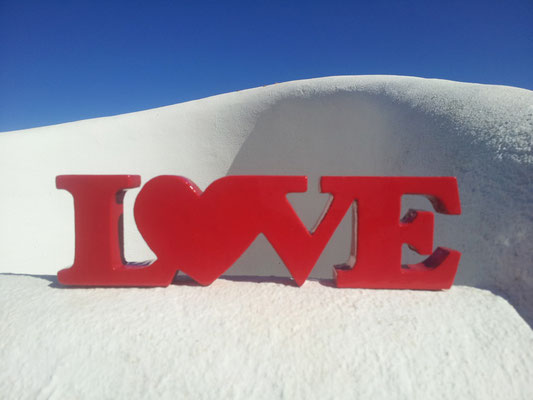 LOVE. Original Sculpture by Nasel. Ibiza 2014