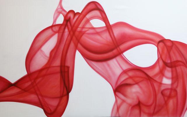 RED SMOKE II by Nasel- acrylic on canvas  100x160cm