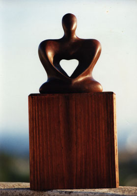 Creative woman - wood sculpture by Nasel