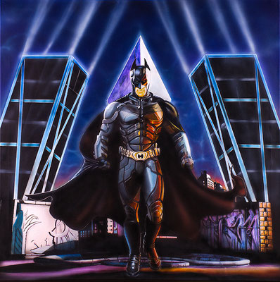BATMAN TORRES KIO - acrilyc on canvas 70X70 cm