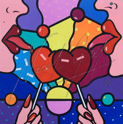 SWEET LOVE by Nasel. Acrylic on canvas
