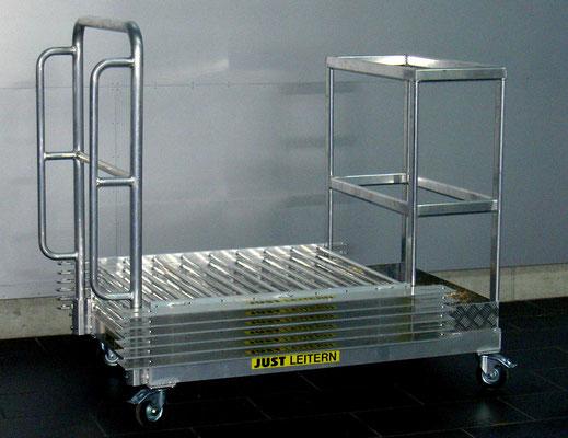 Transportwagen für Industrie-Geländer und Steher