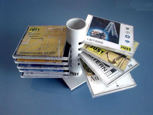 CD-Ständer - JUST Leitern AG (gefräßt und geschweißtes Aluminiumrohr, lackiert)