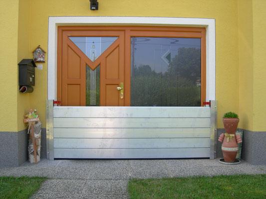 Hochwasserschutzabdeckung für Eingangsbereich - Privat