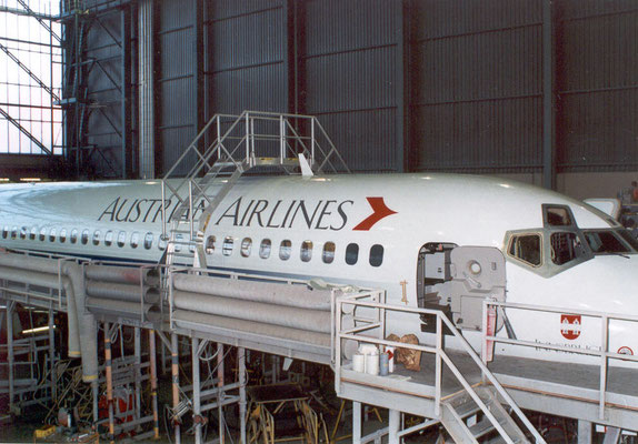 Maintenance stage for aircraft revision