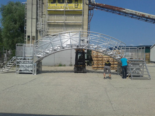 Cart Bogenbrücke - Realisierung