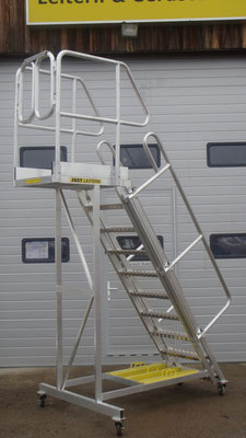 movable stairs with foldable railings - Allimpex