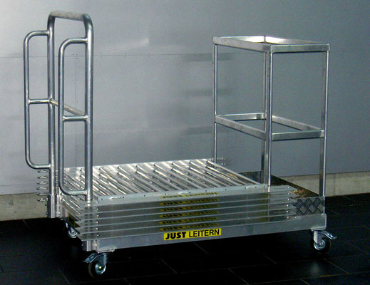 Trolley for industrial railings and risers