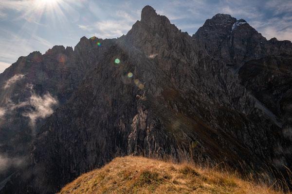 Hier führt der Nordgrat direkt zum Gipfel des Kleinen Widderstein