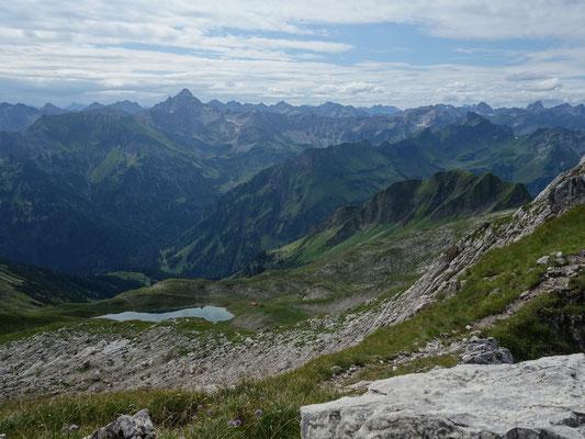 Blick vom Ausstieg der Klettertour