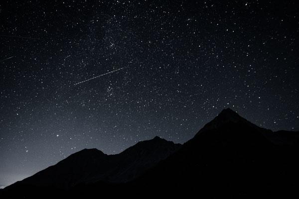Sternenhimmel. Ohne Stativ fotografiert