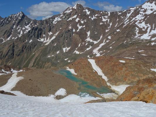 Die Lache am Ende des Gletschers