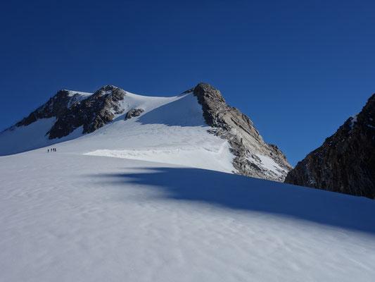 Hier sieht man die steile Südwand