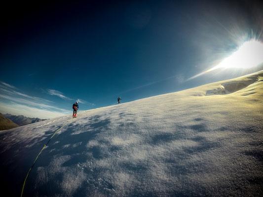 Am Plateau nach der ersten Steilstufe