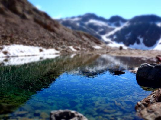 Der erste See ist Glasklar