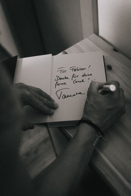 Ein Autogramm darf natülich auch nicht fehlen
