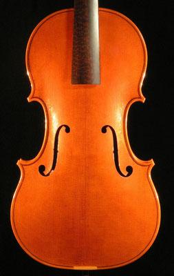 violino barocco modello A.&H. Amati, tavola
